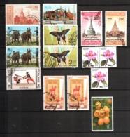 Thailand, Lot Of 15 Used Stamps, Tailandia - Tailandia