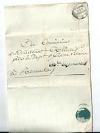Lettre En Franchise De Paris / Ministre Des Finances , An 5 / 1797 - Postmark Collection (Covers)