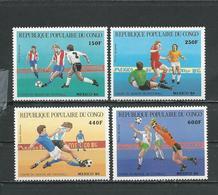 CONGO Scott C355-C358 Yvert PA349-pa352 (4) ** Cote 13,50 $ 1986 - Congo - Brazzaville