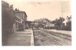 Cpa Du 04- SISTERON -Arrivée D'un Train En Gare - Sisteron