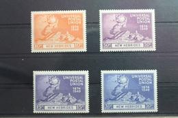 Neue Hebriden 133-136 ** Postfrisch Weltpostverein UPU #SL335 - Vanuatu (1980-...)