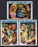 Comores N° 130/32 X Coopération Spaciale U.S.A.-U.R.S.S. Les 3 Valeurs Trace De Charnière Sinon TB - Comores (1975-...)