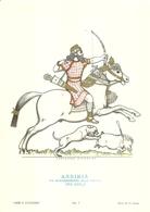 """1886""""-SERIE ARMI E CAVALIERI-ASSIRIA-RE ASSURBANIPAL ALLA CACCIA-668-626 A.C-.STAMPA PROPAGANDA LOFARMA  """" STAMPA ORIG. - Pubblicitari"""
