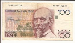 Belgique. Billet De 100 Francs. HONDERD FRANK - [ 2] 1831-... : Royaume De Belgique