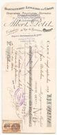 Chèque  Albert Petit Bonneterie-lingerie En Gros à Caen Le 20 Septembre 1929 - Cheques & Traveler's Cheques