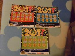 Biglietti  3 GRATTA E VINCI   2O17  NEI 3 COLORI - Lottery Tickets