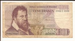 Belgique. Billet De 100 Francs. LOMBARD - [ 2] 1831-... : Royaume De Belgique