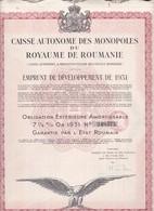 Th3MONOPOLE : ROUMANIE - Obligation De 1000 Frs1931 (20) - Actions & Titres