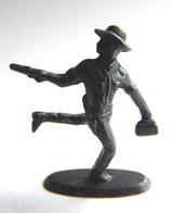 Rare FIGURINE KINDER  METAL COW BOYS 4 70's - U-EI Cowboys (2) - Figurines En Métal