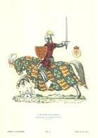 """1889""""-SERIE ARMI E CAVALIERI-INGHILTERRA-CAVALIERE COMBATTENTE-1390-STAMPA PROPAGANDA LOFARMA """" STAMPA ORIGINALE - Pubblicitari"""