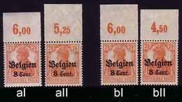 Dt. Bes. Belgien 13 Typen-Set AI/aII/bI/bII Oberrand ** - Occupation 1914-18