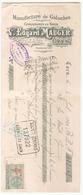 Chèque  Edgar Mauger Manufacture De Galoches à Caen Du 6 Juillet 1920 - Cheques & Traveler's Cheques