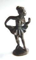 Rare FIGURINE KINDER  METAL BALERINE DANSEUSE 2 70's - U-EI (1) - Figurines En Métal
