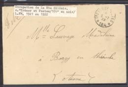 L  057  -  Occupation De La Haute Silésie, Tresor Et Postes 184 En Noir , Rare A Duré 8 Jours - Marcophilie (Lettres)