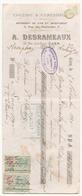 Chèque A. Desrameaux épicerie & Comestibles à Caen Du 5 Novembre 1920 - Cheques & Traveler's Cheques