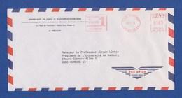 Cover, Air Mail, AFS - Universite De Paris Pantheon Sorbonne, PARIS SORBONNE 1992 - Poststempel (Briefe)
