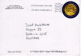 Auslands - Brief Von Cleveland OH Mit Marke Global - USA Forever 2018 - Vereinigte Staaten