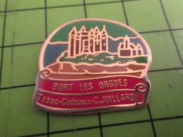 611a Pin's Pins /  Belle Qualité Et Rare / THEME VILLES : BORT LES ORGUES TABAC CADEAUX JUILLARD - Villes