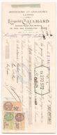 Chèque Léopold Cauchard Bonneterie Et Chaussures Laines à Caen Du 28 Mai 1929 - Cheques & Traveler's Cheques