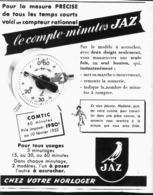 """PUB COMPTE-MINUTES  """" JAZ  """"  1952 - Bijoux & Horlogerie"""