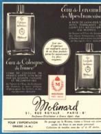 """PUB EAU DE LAVANDE De  """" MOLINARD  """"  1952 - Other"""