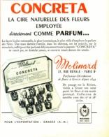 "PUB PARFUM "" CONCRETA "" De  "" MOLINARD  ""  1952 - Other"