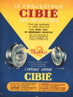 "PUB  PHARES  "" CIBIE ""  1952 - Transports"