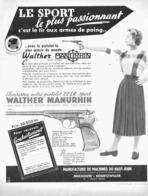 "PUB  PISTOLETS   "" WALTER MANURHIN  ""  1954 ( 2 ) - Militaria"