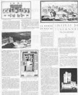 """LE CHATEAU De  """" VINCENNES """"     1954 - Ile-de-France"""