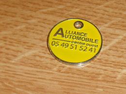 TC5 / JETONS DE CADDIES :alliance Automobile 79  ( Verso Alu )     SUP - Jetons De Caddies