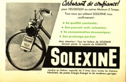 """PUB  """" VELOSOLEX Et SOLEXINE  """"  1954 ( 5 ) - Transports"""