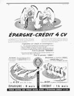 "PUB  CREDIT   "" RENAULT 4CV  ""  1954 ( 9 ) - Transports"