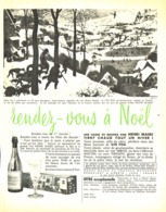 """PUB   """" VIN FOU  """"  HENRI MAIRE Au CHATEAU MONTFORT   1954 ( 1 ) - Other Bottles"""