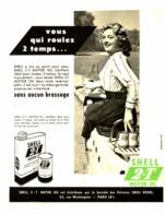 """PUB HUILE   """" SHELL 2.T  """"  1954 ( 1 ) - Transports"""