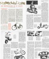 """ VELOSOLEX /SCOOTER CABRI-MORS-MOBYSCOOTER / STARLETT  ""  LES MOTOCYCLES Au 41eme SALON    1954 - Transports"