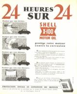 """PUB HUILE   """" SHELL X-100  """"  1954 ( 2 ) - Transports"""