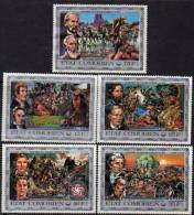Comores N°133 / 37 X Bicent. De L'indép. Des Etats-Unis. La Conquète De L'Ouest  Les 5 Vals Trace De Charnière, Sinon - Comores (1975-...)