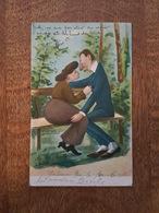 Illustrateur Hober - Couple D'Amoureux Sur Un Banc - N°S. 311 - Hober