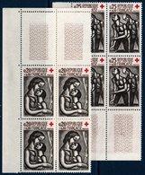 FRB  1961  Croix-rouge N°YT 1323-1324  ** MNH Blocs De 4 Coin De Feuille - Neufs