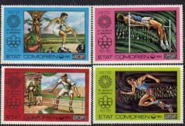 Comores N°150 / 53 X Jeux Olympiques D'été à Montréal Les 4 Val. Trace De Charnière Sinon TB - Comores (1975-...)