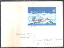 Jo Innsbruck 76 - Lettre De DDR Vers Belgique Avec Bloc (à Voir) - Hiver 1976: Innsbruck