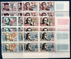 FRB  1963 Série Des Célébrités   N°YT 1370-1375  ** MNH Blocs De 4 Coin De Feuille - Neufs