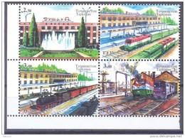 2015. Tajikistan, Rail-road Stations, 4v Perforated,  Mint/** - Tadschikistan