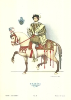 """1891""""-SERIE ARMI E CAVALIERI-FRANCIA-CORTIGIANO-1541- STAMPA PROPAGANDA LOFARMA"""" STAMPA ORIGINALE - Pubblicitari"""