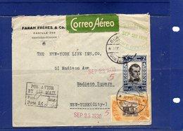 ##(DAN1812)-Postal History-Equador 1930- Airmail  Cover From Guayaquil  To New York - U.S.A. - Ecuador