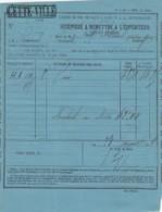 RECEPISSE CHEMIN DE FER PLM - PETITE VITESSE - GARE DE CETTE (SETE) - ARTHAUD REIG 1869- MARQUE FISCALE - Transport