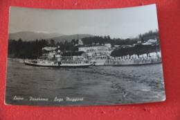 Lago Maggiore Luino Con  Piroscafo Di Passaggio 1955 - Andere Städte