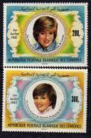 Comores N° 368 / 69 X 21ème Anni. De La Princesse De Galles La Paire Gomme Blanche Brillante Trace De Charnière Sinon TB - Comores (1975-...)