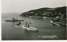 FRANCE - RPPC - Villefranche-sur-Mer  - Le Rade Et L'Escarde- Superb Warships Etc - LL - Villefranche-sur-Mer