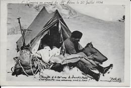 Cpa 1er Camping Au Sommet Du Mont-Blanc Le 20 Juillet 1934-signée- Voir Dos Beaux Cachets - Chamonix-Mont-Blanc